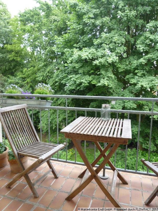 Balkon mit Blick ins Grüne