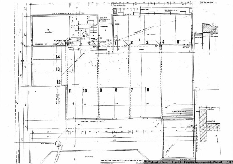 Tiefgaragenplan Stellplatz Nr 11