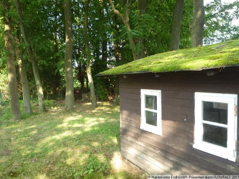 Hütte mit Grünfläche